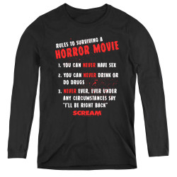 Image for Scream Women's Long Sleeve T-Shirt - Rules