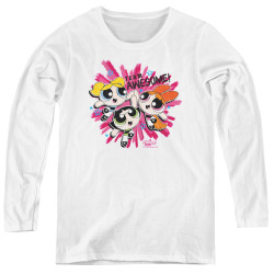 Image for The Powerpuff Girls Women's Long Sleeve T-Shirt - Team Awesome