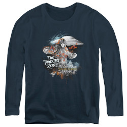 Image for The Twilight Zone Women's Long Sleeve T-Shirt - Science & Superstition
