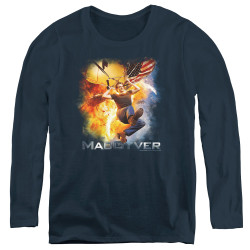 Image for MacGyver Women's Long Sleeve T-Shirt - Parachute