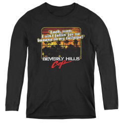 Image for Beverly Hills Cop Women's Long Sleeve T-Shirt - Banana in My Tailpipe