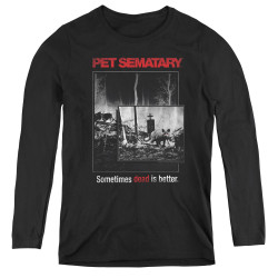 Image for Pet Sematary Women's Long Sleeve T-Shirt - Cat Poster