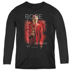 Image for The Borgias Women's Long Sleeve T-Shirt - Pope Alexander VI