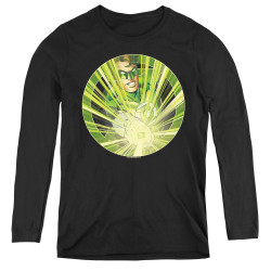 Image for Green Lantern Light 'em Up Women's Long Sleeve T-Shirt