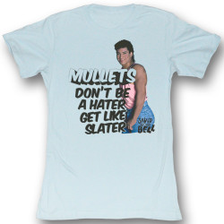 Image for Saved by the Bell Girls T-Shirt - Mullets Slater Hater