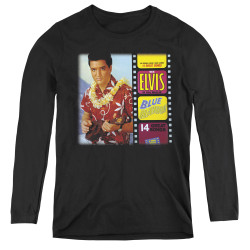 Image for Elvis Women's Long Sleeve T-Shirt - Blue Hawaii Album