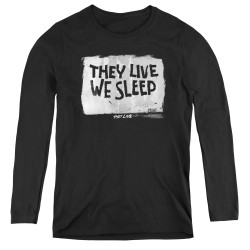 Image for They Live Women's Long Sleeve T-Shirt - We Sleep