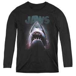 Image for Jaws Women's Long Sleeve T-Shirt - Terror in the Deep