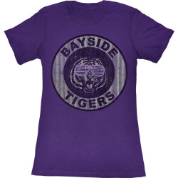 Image for Saved by the Bell Girls T-Shirt - Pinstripe Bayside