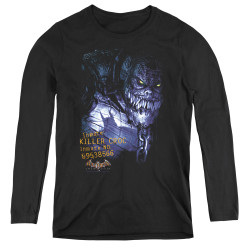 Image for Batman Arkham Asylum Women's Long Sleeve T-Shirt - Arkham Killer Croc