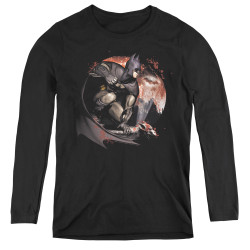Image for Arkham City Women's Long Sleeve T-Shirt - Blood Moon