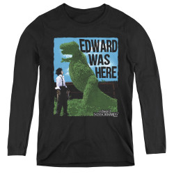 Image for Edward Scissorhands Women's Long Sleeve T-Shirt - Edward Was Here