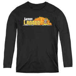 Image for Atari Women's Long Sleeve T-Shirt - Lunar Lander Marquee