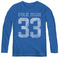 Image for Married With Children Women's Long Sleeve T-Shirt - Polk High 33 Logo