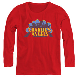 Image for Charlies Angels Women's Long Sleeve T-Shirt - Faded Logo