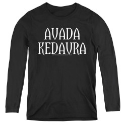 Image for Harry Potter Women's Long Sleeve T-Shirt - Avada Kedavra