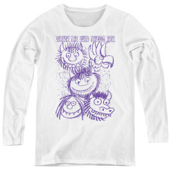 Image for Where the Wild Things Are Women's Long Sleeve T-Shirt - Wild Sketch