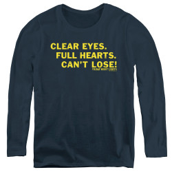 Image for Friday Night Lights Women's Long Sleeve T-Shirt - Clear Eyes