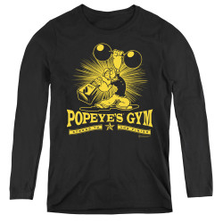 Image for Popeye the Sailor Women's Long Sleeve T-Shirt - Popeyes Gym
