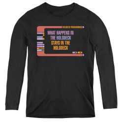 Image for Star Trek Women's Long Sleeve T-Shirt - What Happens in the Holodeck