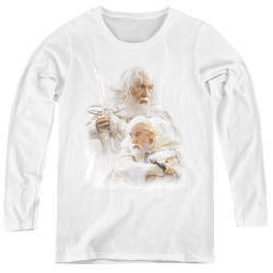 Image for Lord of the Rings Women's Long Sleeve T-Shirt - Gandalf the White