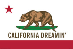 Image for Flag California Dreamin' Poster