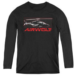 Image for Airwolf Grid Women's Long Sleeve T-Shirt