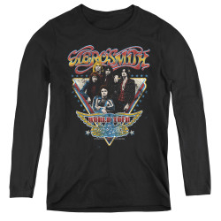 Image for Aerosmith Women's Long Sleeve T-Shirt - Triangle Stars