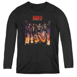 Image for Kiss Women's Long Sleeve T-Shirt - Destroyer Cover