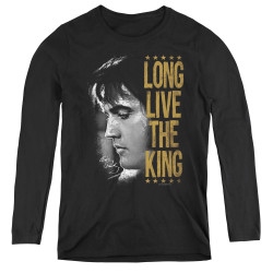 Image for Elvis Women's Long Sleeve T-Shirt - Long Live the King!
