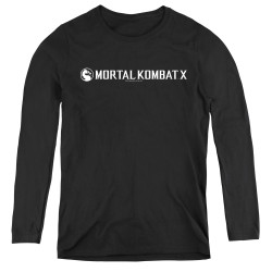 Image for Mortal Kombat X Women's Long Sleeve T-Shirt - Horizontal Logo