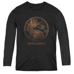 Image for Mortal Kombat X Women's Long Sleeve T-Shirt - Metal Seal