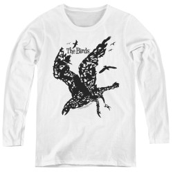 Image for The Birds Women's Long Sleeve T-Shirt - Title
