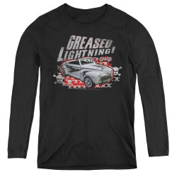 Image for Grease Women's Long Sleeve T-Shirt - Greased Lightening