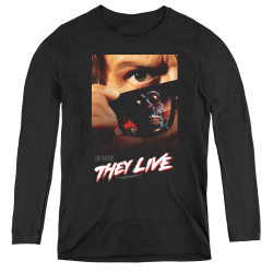 Image for They Live Women's Long Sleeve T-Shirt - Poster