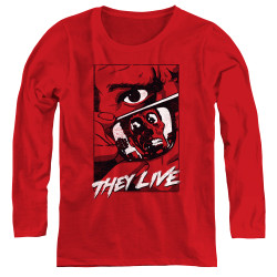 Image for They Live Women's Long Sleeve T-Shirt - Graphic Poster