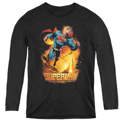 Image for Superman Women's Long Sleeve T-Shirt - Space Case
