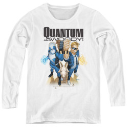 Image for Quantum and Woody Women's Long Sleeve T-Shirt - Fists Up!