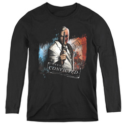 Image for Arkham City Women's Long Sleeve T-Shirt - Two Face