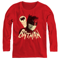 Image for Batman Classic TV Women's Long Sleeve T-Shirt - Bat Signal