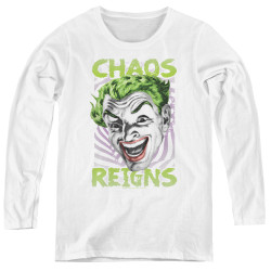 Image for Batman Classic TV Women's Long Sleeve T-Shirt - Chaos Reigns