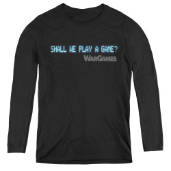 Image for Wargames Women's Long Sleeve T-Shirt - Shall We
