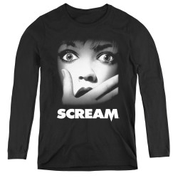 Image for Scream Women's Long Sleeve T-Shirt - Poster