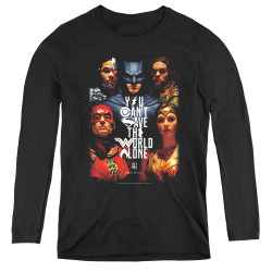 Image for Justice League Movie Women's Long Sleeve T-Shirt - Save the World