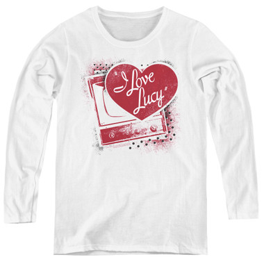 Image for I Love Lucy Women's Long Sleeve T-Shirt - Spray Paint Heart