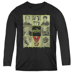Image for The Munsters Women's Long Sleeve T-Shirt - Black