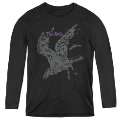 Image for The Birds Women's Long Sleeve T-Shirt - Poster