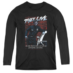 Image for They Live Women's Long Sleeve T-Shirt - Dead Wrong