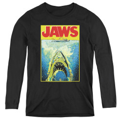 Image for Jaws Women's Long Sleeve T-Shirt - Bright Jaws