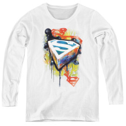 Image for Superman Women's Long Sleeve T-Shirt - Urban Shields